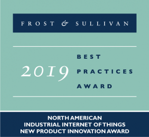 Industrial Internet of Things New Product Innovation Award Frost & Sullivan Best Practices Award 2019